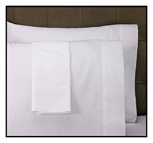 6 NEW BRIGHT WHITE T250 PREMIUM PILLOW CASES STANDARD SIZE HOTEL GRADE BEDDINGS from Unknown