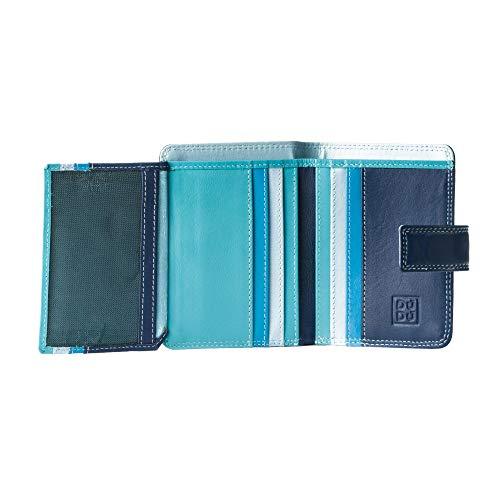 714f2c4f961e83 Kleine Damen Geldbörse in farbigem Leder und Kartensteckfächer von DuDu  Blau: Amazon.de: Koffer, Rucksäcke & Taschen