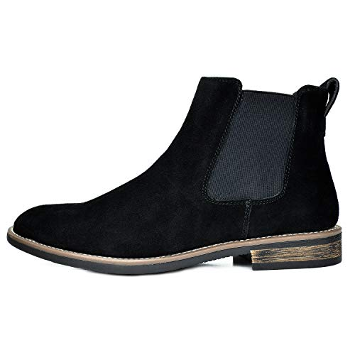 Bruno Marc Men's Suede Leather Chelsea Ankle Boots