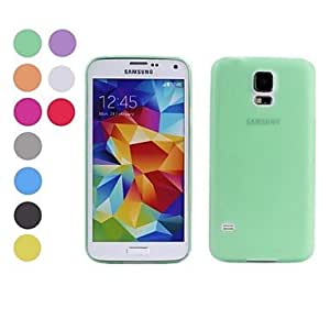 ZX Ultra Thin Frosted Soft Case for Samsung S5 I9600 (Assorted Colors) , Blue