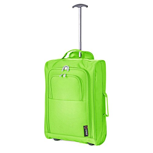Trolley wine Equipaje 5 Bag Mano Cities De Liters Verde Approved Cm 54 Cabin Rojo 42 ZOXtO