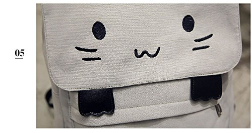 Women Canvas Pt11 Smiley 3D Emoji Printing School Donalworld Backpack dBTY8xB