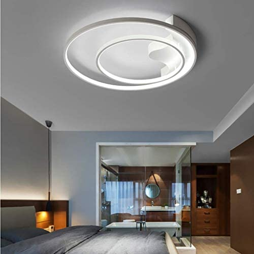 YXZQ HGW Large 39W Dimmbare LED-Deckenleuchte mit ferngesteuerten Deckenleuchten, Moderne ovale Wohnzimmerlampe mit Deckenbeleuchtung für Esszimmer, Büro, B.