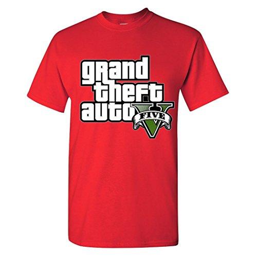 Price comparison product image Grand Theft Auto V Five Men's 100 Cotton T-Shirt