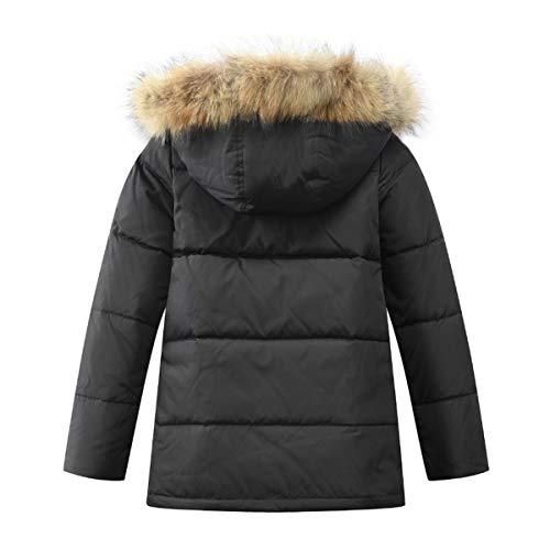 LISUEYNE Boys Kids Winter Jacket Hooded Down Coat Puffer Jacket Mid Long  Parka Coats 64dcfd6bf
