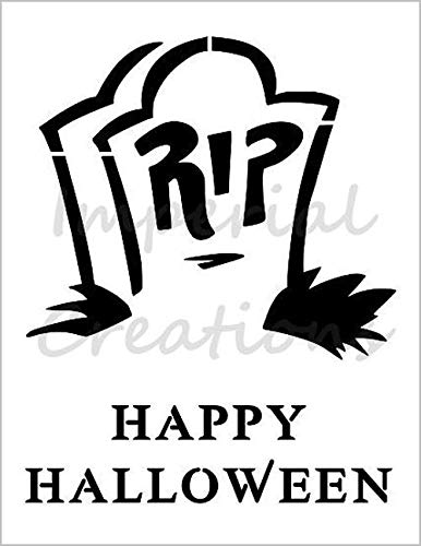 RIP TOMBSTONE Gravestone Grave Marker Halloween 8.5