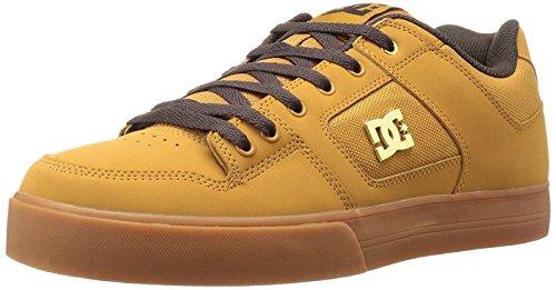 DC Pure SE Tan Brown Leather Mens Skate