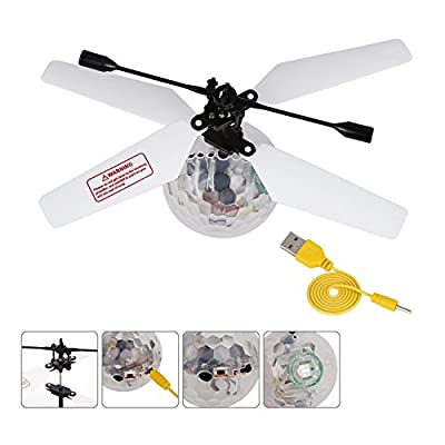 Music RC Toy, OCDAY RC Mini Flying Ball, RC infrared Induction Helicopter Ball with LED Shinning Flashing Lighting Built in Disco Music for Kids, Teenagers