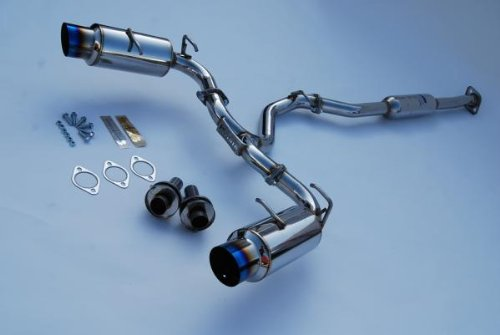 Invidia (HS12SSTGTT) N1 Single Layer Cat-Back Exhaust System with Titanium Tip for Subaru BR-Z/Scion FR-S ()