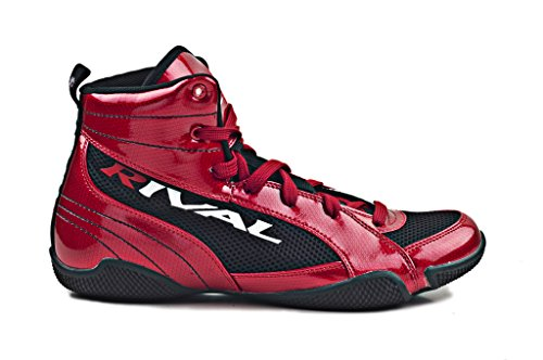 RIVAL BOXING BOOTS-LOW TOPS (CANDY APPLE RED & BLACK, 8)
