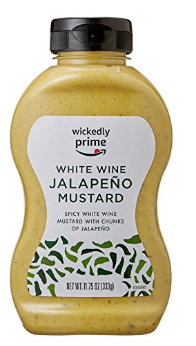 Wickedly Prime Mustard, White Wine Jalapeno, 11.75 Ounce