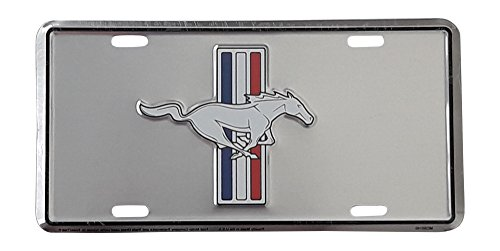 (HangTime Ford Mustang Metal License Plate 6 x 12)