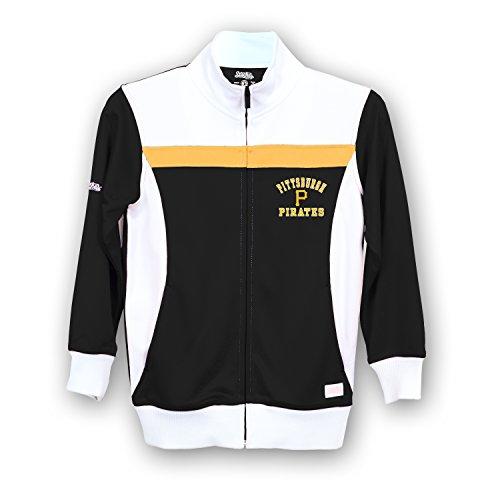 Stitches MLB Pittsburgh Pirates Girls Fashion Track Jacket, Small, Black/White
