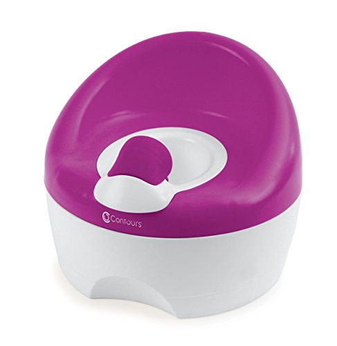Contours Bravo 3-in-1 Potty System - Potty Chair, Toilet Trainer, Step Stool All in One, Aqua
