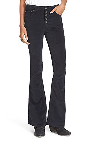 Free People Soma Velvet Flared Pants Dark Blue 26 by Free People