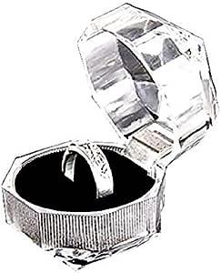 Legisdream Anillos de Puerta ataúd Transparente Joyería cojín Negro Suave con una Idea de Soporte Elegante Regalo para una Agradable Sorpresa
