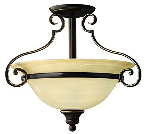 Hinkley 4561AT Traditional Two Light Semi-Flush Mount from Cello collection in (Hinkley Cello)