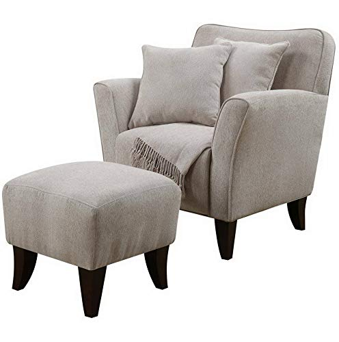 Amazon.com: Hebel Cozy Accent Chair with Ottoman and Pillows ...