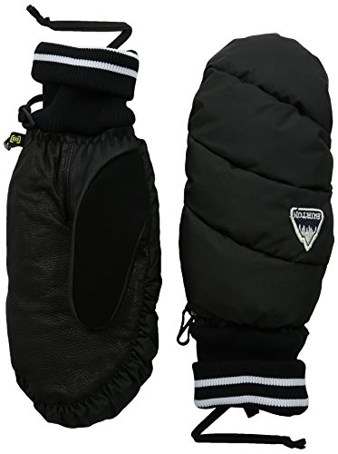 Burton Women's Warmest Mitts, True Black, Large Insulated Top Mount