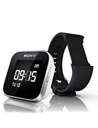 Sony MN2SW SmartWatch for Android Phones; Includes Black and White Wristbands - Retail Packaging