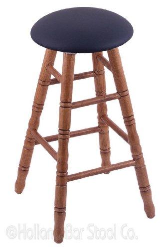 Oak Counter Stool in Medium Finish with Allante Dark Blue Seat -