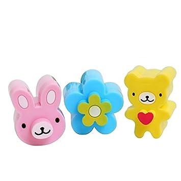 Gudhi Juego de 3 moldes para galletas de plástico para niños (coloridos): Amazon.es: Informática