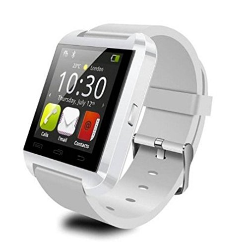 Iuhan Fashion U8 Bluetooth Smart Wrist Watch Sports Pedometer Healthy for Samsung (White)