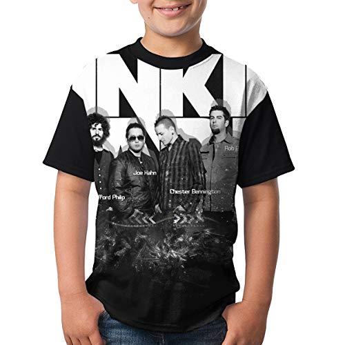 ADPeBoy Lin_kin Park Boys Tshirt Fashion 3D Youth Shirts Short Sleeve Raglan Baseball Tee Black