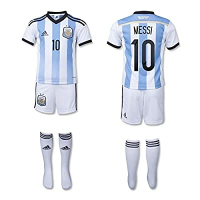 finest selection 61cf9 21d4f adidas Messi 10 Argentina World Cup Home Mini Kit 2014-15 ...