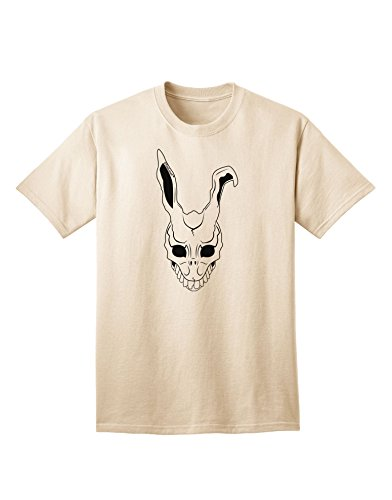[TooLoud Scary Face Bunny White Adult T-Shirt - Natural - Medium] (Frank The Bunny Costume High Quality)
