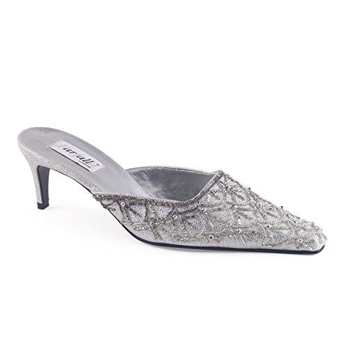 FARFALLA - Zuecos para mujer plata