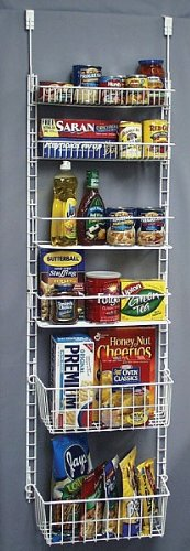 Deluxe Storage Pantry Door Rack