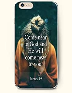iPhone Case,OOFIT iPhone 6 (4.7) Hard Case **NEW** Case with the Design of come near to god and he will come near to you james4:8 - Case for Apple iPhone iPhone 6 (4.7) (2014) Verizon, AT&T Sprint, T-mobile