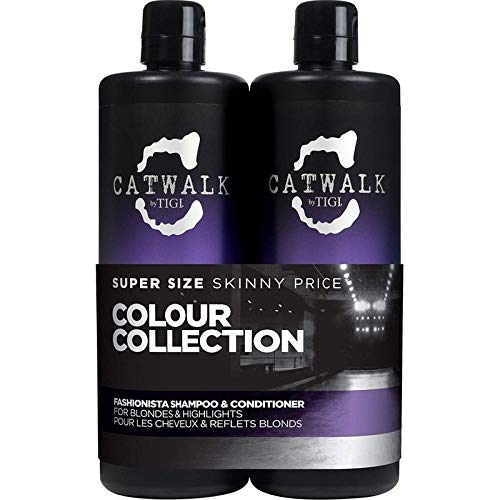 Catwalk Tigi Fashionista Blondes and Highlights Shampoo & Conditioner Set, 25.36 Fluid Ounce by TIGI Cosmetics