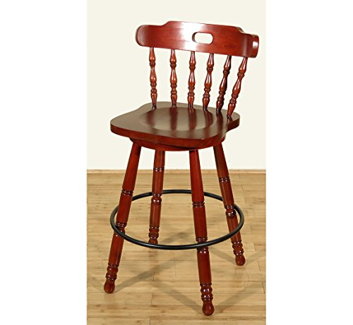 Cherry Spindle Back Swivel Bar Stool (Spindle Back Cherry)