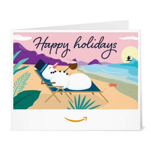 Snowman Holidays gift card to print at home link image