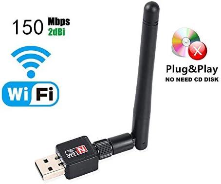 1Pcs Mini USB WiFi Adapter 150Mbps 16Db Antenna Network LAN Card PC Wi-Fi Receiver Wireless Portable
