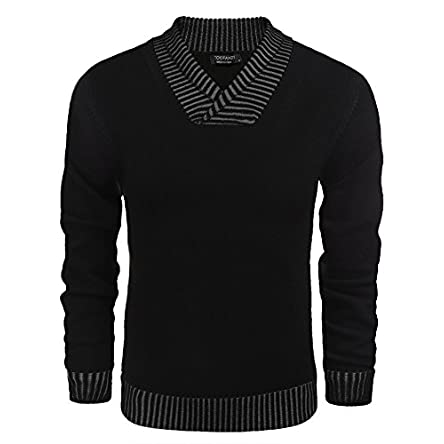 COOFANDY Men's Knitted Sweaters Casual V-Neck...