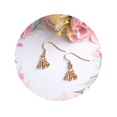 Custom hand-made bag 24k gold tassel drop earrings minimalist metal minimalist elegant no pierced ear clip hypoallergenic ()