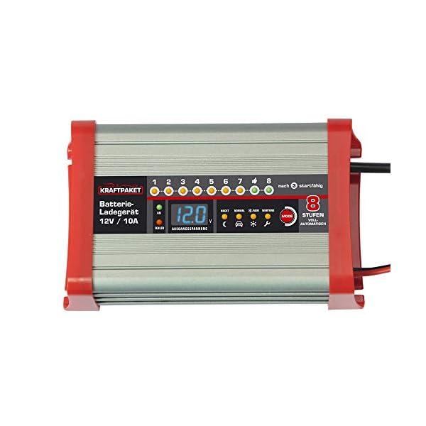 41gZsR71 rL Dino KRAFTPAKET 136321 Batterieladegerät 10A-12V mit Camping-Funktion Nachtmodus und Memory-Speicher für KFZ PKW Auto…