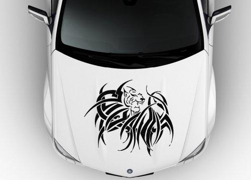 Car Hood Vinyl Sticker Decal Tribal Tattoo Lynx Tiger N633