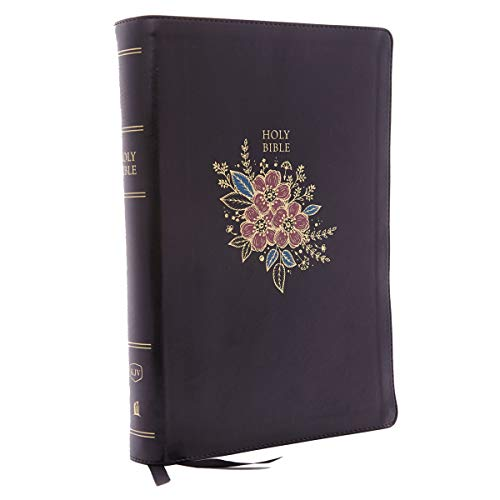 KJV, Deluxe Reference Bible, Super Giant Print, Leathersoft, Black, Thumb Indexed, Red Letter Edition, Comfort Print: Holy Bible, King James Version