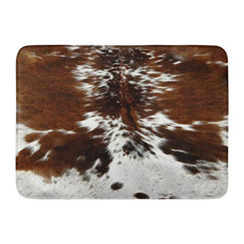 - SPXUBZ Tri Color Brown Cowhide Non Slip Entrance Rug Outdoor/Indoor Durable and Waterproof Machine Washable Door mat Size:18x30 inch