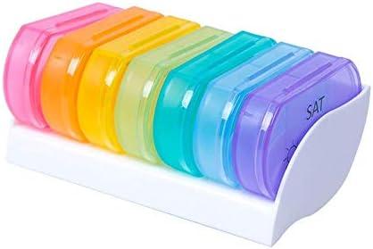 JJPP - Pastillero organizador de plástico para pastillas, 7 piezas, caja dispensadora de pastillas, pastillas de vitamina, pastillero de medicina, tableta: Amazon.es: Salud y cuidado personal