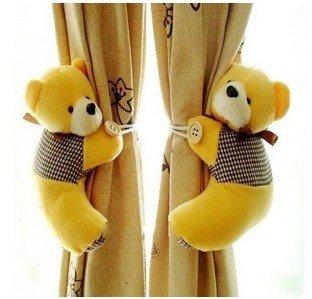 Par de abrazaderas de cortina Ositos de peluche (Amarillo)