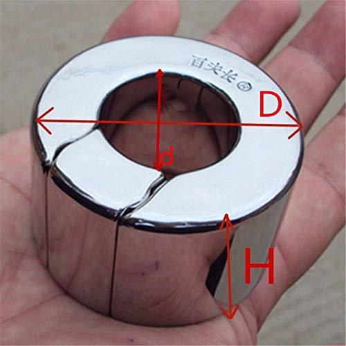 Stainless Steel Bondage P-Enis Pendant Ring for Men Metal Ball Stretcher Scrotum Pendant Restraint Ring B2-47 L by Anieca (Image #4)