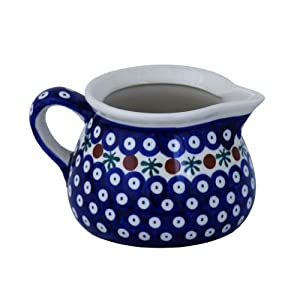 Boleslawiec Pottery Milk jug, 0.6L, Original Bunzlauer Keramik, Decor 41