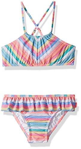 Seafolly Little Girls' Stripe Apron Tankini Swimsuit, Candy, 3