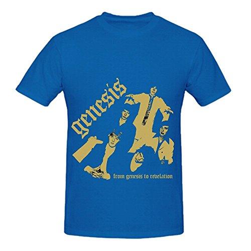 Genesis From Genesis To Revelation Electronica Men Digital Printed Shirts Blue Revelation Sleeveless Shirt