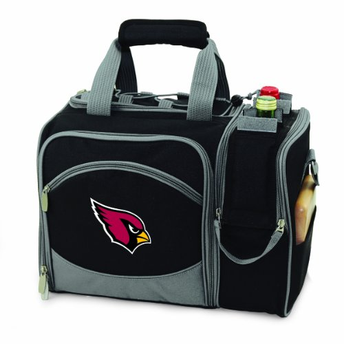 - PICNIC TIME NFL Arizona Cardinals Malibu Insulated Shoulder Pack with Deluxe Picnic Service for Two